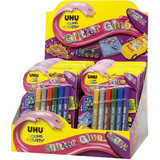 UHU glitzerkleber Glitter glue Original, 24er Display