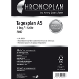 CHRONOPLAN tagesplan 2019, 1 tag / 1 Seite, din A5