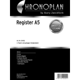 CHRONOPLAN register A5, 31-teilig
