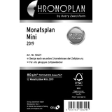 CHRONOPLAN monatsplan 2019, Mini, 79 x 125 mm