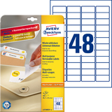 AVERY zweckform Stick+Lift Etiketten, 45,7 x 21,2 mm, weiß