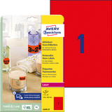 AVERY zweckform Stick&Lift Etiketten, 210 x 297 mm, rot