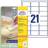 AVERY zweckform Stick+Lift Etiketten, 63,5 x 38,1 mm, weiß