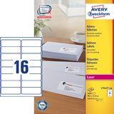 AVERY zweckform QuickPEEL Adress-Etiketten, 99,1 x 33,9 mm