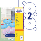 AVERY zweckform CD-Etiketten SuperSize, weiß, matt