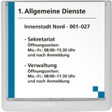 DURABLE Türschild click SIGN, (B)149 x (H)148,5 mm, weiß