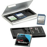 DURABLE speicherkartenbox Memory card Box, metallic silber
