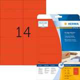 HERMA universal-etiketten SPECIAL, 105 x 42,3 mm, rot