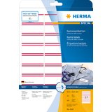 HERMA namens-etiketten SPECIAL 63,5 x 29,6 mm, roter Rand