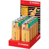 STABILO fineliner point 88, 20er zebrui Neon, 10er Display