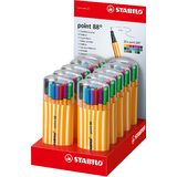STABILO fineliner point 88, 20er Zebrui, 10er Display