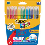 BIC kids Fasermaler kid Couleur medium, 12er Kartonetui