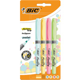 "BIC textmarker ""Highlighter grip Pastel"", 4er Blister"