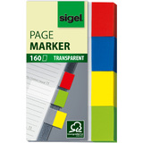 sigel haftmarker Transparent, 50 x 20 mm, 160 Blatt