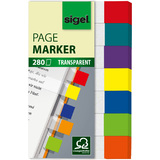 sigel haftmarker Transparent mini, 50 x 12 mm, 280 Blatt