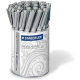 STAEDTLER permanent-marker Metallic, silber, 30er Display