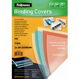 Fellowes Deckblatt, din A4, PVC, transparent, 0,24 mm