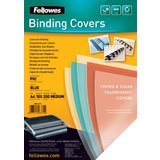 Fellowes Deckblatt, din A4, PVC, blau-transparent, 0,20 mm