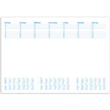 Herlitz 10621506 Schreibunterlage Papier mit Kalendarium 19//20//21 58x38cm 50 Blatt