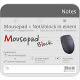 "RNK verlag Mousepad block ""Notizen grau"", 240 x 220 mm"