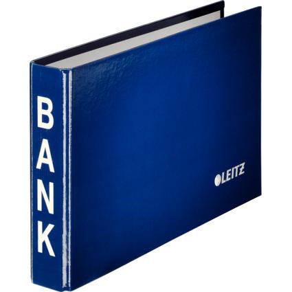 LEITZ Bankordner, für Kontoauszüge, blau, 2-Ring-Mechanik