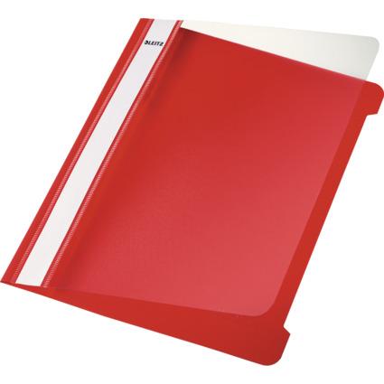 LEITZ Schnellhefter Standard, DIN A5, PVC, rot