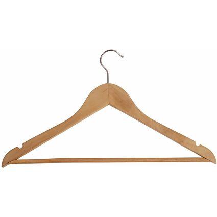 ALBA Holz-Kleiderbügel, mit Steg, 25er Set