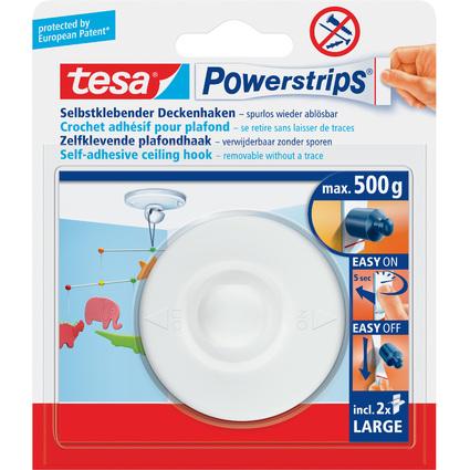 tesa powerstrips deckenhaken wei haltekraft max 0 5 kg 58029 00020 04 bei. Black Bedroom Furniture Sets. Home Design Ideas