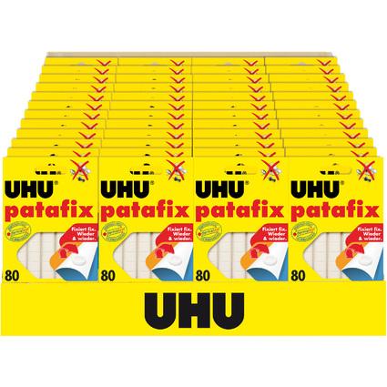UHU Schulmodul 2020: Klebepads patafix, weiß, 48 x 80 Stück
