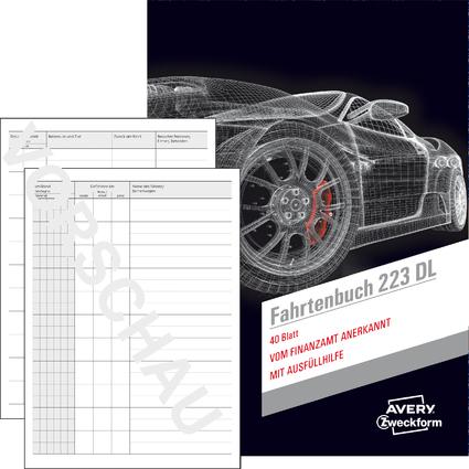 "AVERY Zweckform Formularbuch ""Fahrtenbuch"", Drivers Edition"