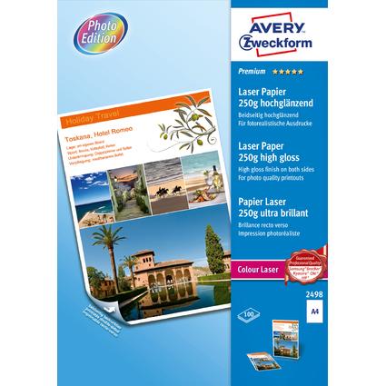 AVERY Zweckform Premium Colour Laser Foto-Papier, 250 g/qm
