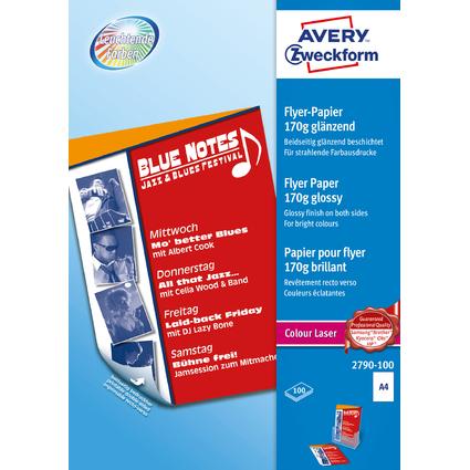 AVERY Zweckform Flyer-Papier, DIN A4, 170 g/qm, weiß