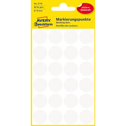AVERY Zweckform Markierungspunkte, Durchmesser 18 mm, weiß