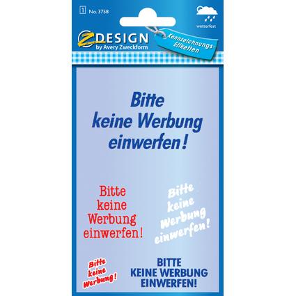 """AVERY Zweckform Hinweisetiketten """"Bitte keine Werbung"""