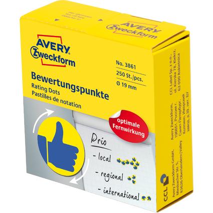 AVERY Zweckform Markierungspunkte, Daumen, gelb/blau