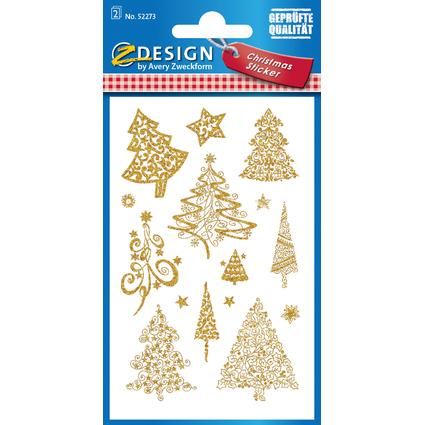 """AVERY Zweckform ZDesign Weihnachts-Sticker """"Bäume"""""""