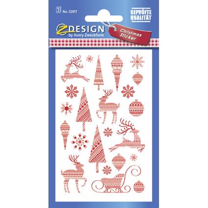 """AVERY Zweckform ZDesign Weihnachts-Sticker """"Retro"""""""