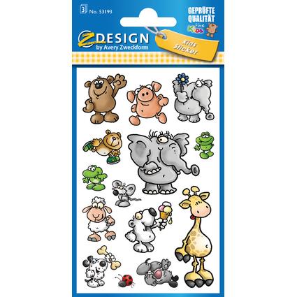 """AVERY Zweckform ZDesign KIDS Sticker """"Tiere"""""""