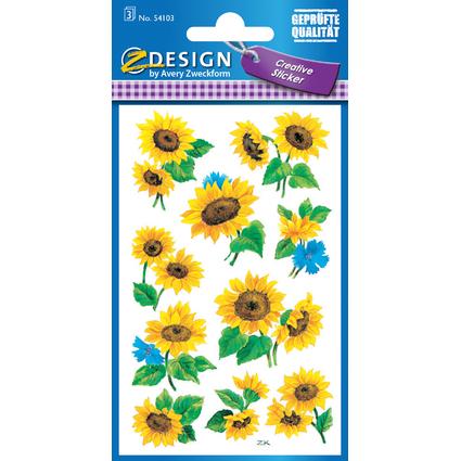 """AVERY Zweckform Z-Design Sticker """"Sonnenblume"""""""