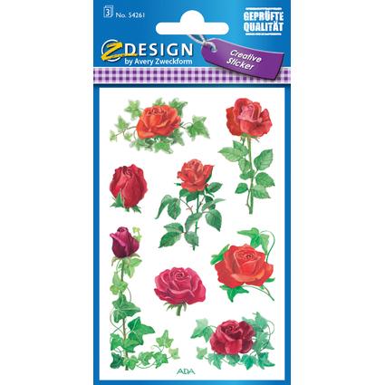 "AVERY Zweckform Z-Design Sticker ""Rosen Efeu"""
