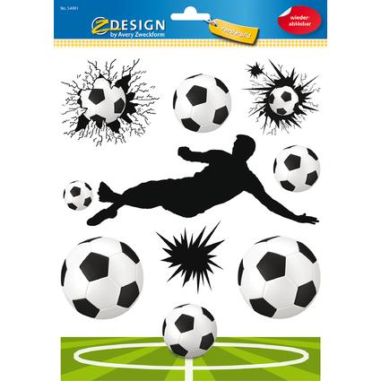 "AVERY Zweckform ZDesign KIDS Fensterbild ""Fußball"", DIN A4"