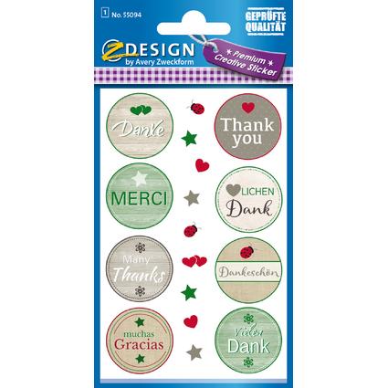 "AVERY Zweckform CREATIVE Geschenke-Sticker ""Danke"""