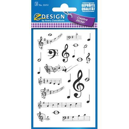 """AVERY Zweckform Z-Design Creative Sticker """"Noten"""""""