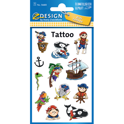 "AVERY Zweckform ZDesign Kids Tattoos ""Piraten"""