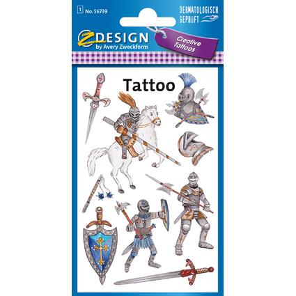 """AVERY Zweckform ZDesign KIDS Tattoos """"Ritter"""""""