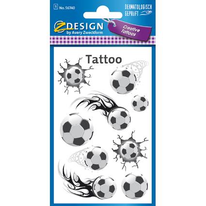 "AVERY Zweckform ZDesign KIDS Tattoos ""Fußball"""