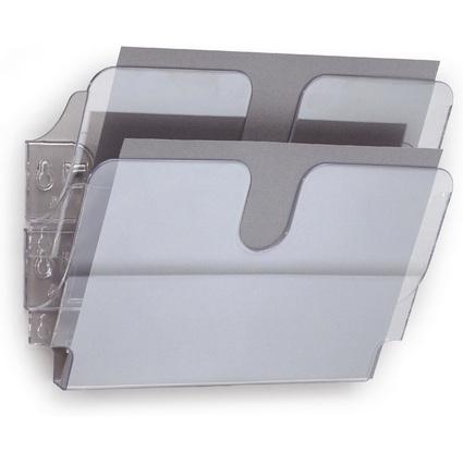 """DURABLE Wand-Prospekthalter-Set """"FLEXIPLUS 2"""", A4, 2 Fächer"""
