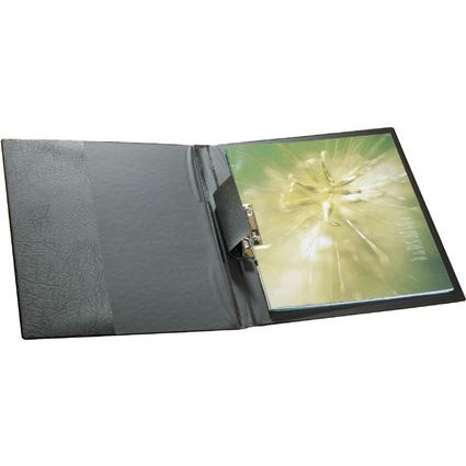 DURABLE Klemmhebel-Mappe, DIN A4, Kunststoff, schwarz
