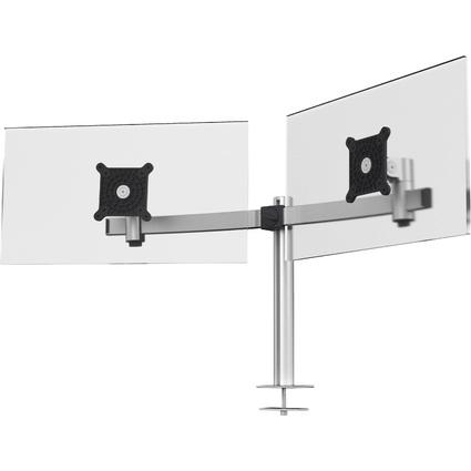 DURABLE Monitorhalterung, für 2 Monitore, Tischführung
