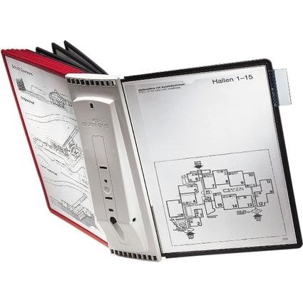DURABLE Tafelträger 10 SHERPA, für 10 Sichttafeln A4, grau